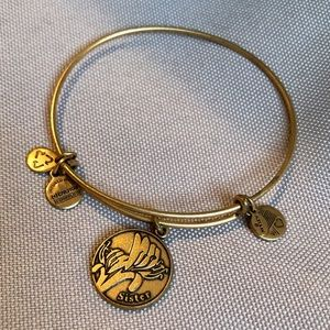 Alex and Ani Sister Charm Gold Bracelet